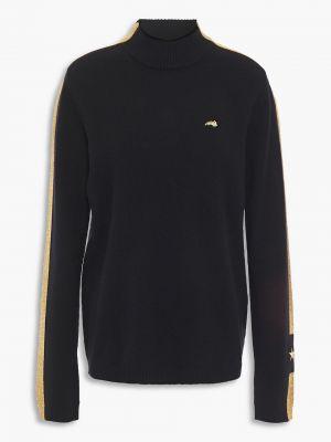 Кашемировый черный свитер в полоску Bella Freud