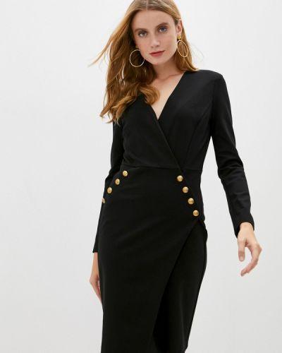 Черное платье-футляр Pinko