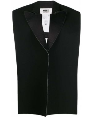 Шерстяной блейзер - черный Mm6 Maison Margiela
