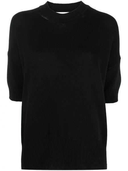 Кашемировый черный с рукавами кроп-топ Jil Sander