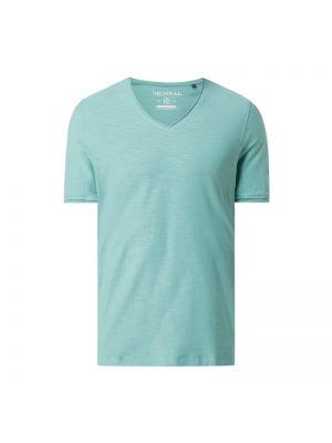 Zielony t-shirt bawełniany z dekoltem w serek Mcneal