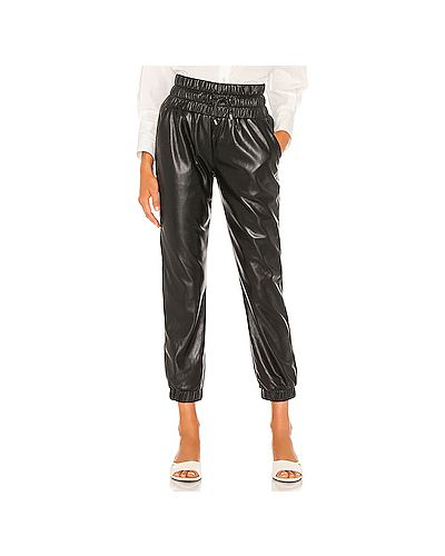 Кожаные черные брюки эластичные Joie