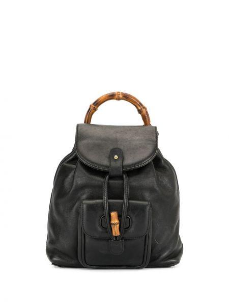Skórzany plecak czarny okrągły Gucci Pre-owned