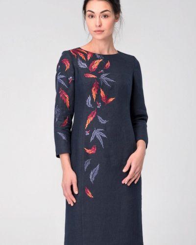 Платье весеннее синее Garmoniya