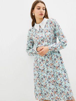 Бирюзовое зимнее платье Cavo