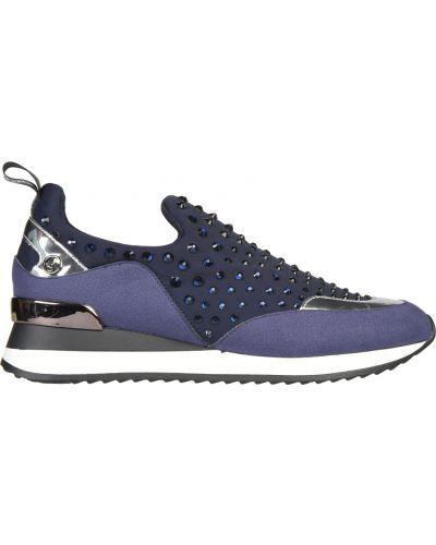 Кроссовки замшевые фиолетовый Liu Jo