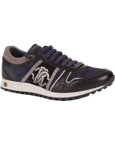 Синие кроссовки замшевые Roberto Cavalli