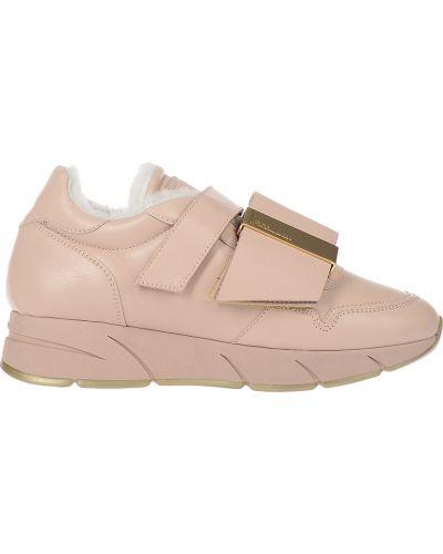 Кроссовки с мехом розовый Blumarine