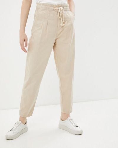 Повседневные бежевые брюки Defacto