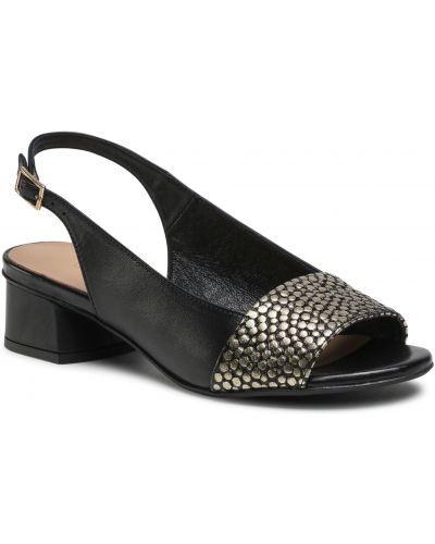 Czarne sandały casual Edeo
