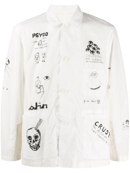 Классическая прямая классическая рубашка с воротником с заплатками Johnundercover
