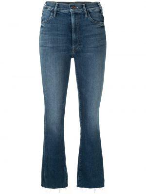 Расклешенные синие джинсы на молнии Mother