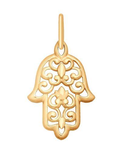 Золотая подвеска Sokolov