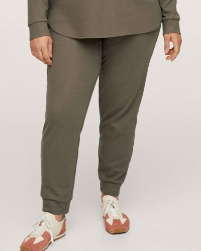Зимние брюки хаки Violeta By Mango