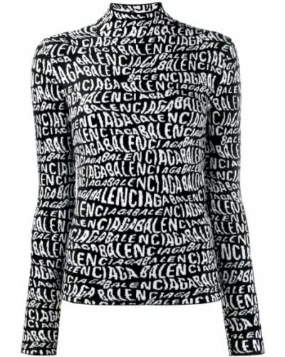 Czarny sweter z wiskozy Balenciaga