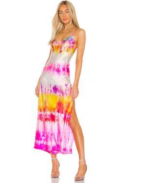 Satynowa różowa sukienka Dannijo