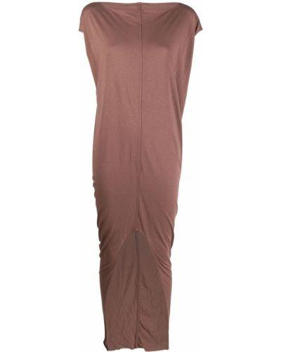 Трикотажное розовое платье мини с короткими рукавами Rick Owens Lilies