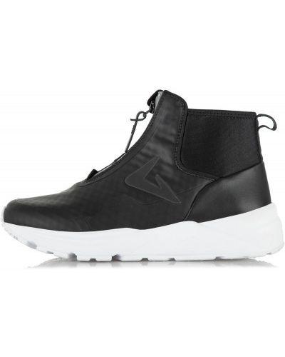 Высокие кроссовки на молнии черные Demix