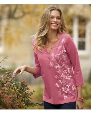 Блузка розовая с цветочным принтом Atlas For Men