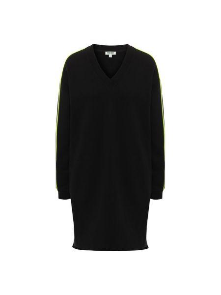 Платье из футера черное Kenzo