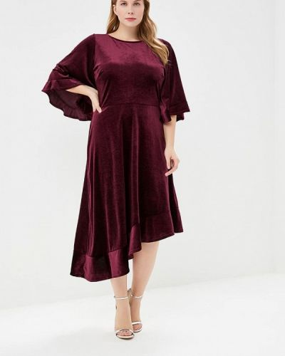 Вечернее платье осеннее красный Lost Ink Plus