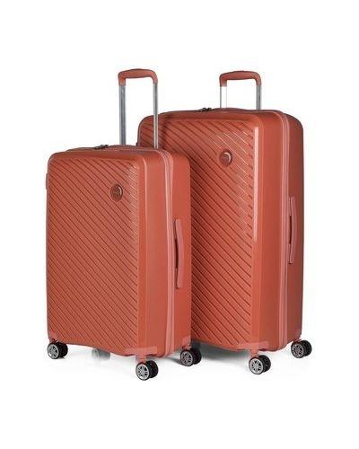 Pomarańczowy walizka Itaca