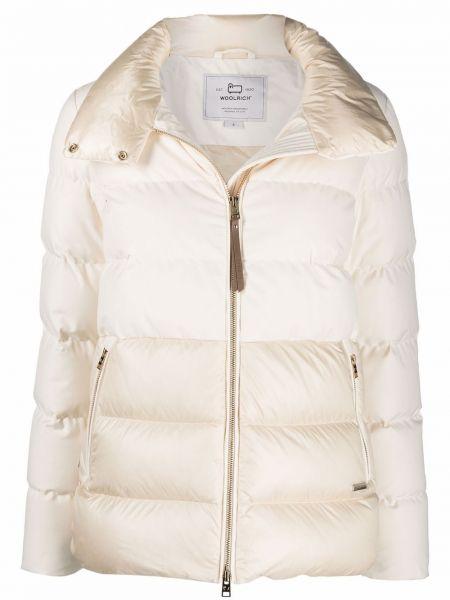 Стеганая куртка - белая Woolrich