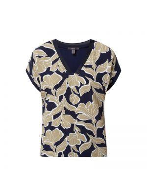 Niebieska bluzka z wiskozy z dekoltem w serek Esprit Collection