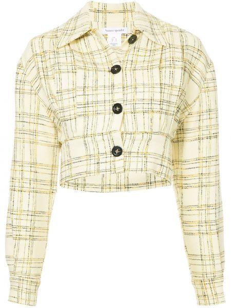 Классическая желтая куртка с манжетами на пуговицах Bianca Spender