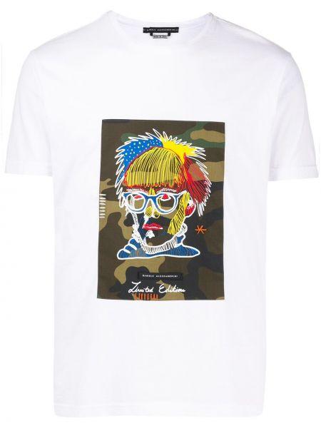 Koszula krótkie z krótkim rękawem prosto z nadrukiem Daniele Alessandrini