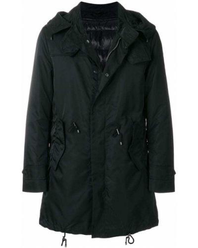 Пальто черное на молнии Sealup
