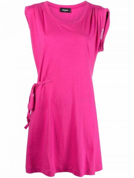 Розовое платье с вырезом без рукавов Dsquared2