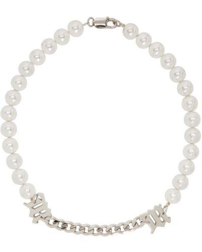 Biały naszyjnik z perłami z perłami za pełne Misbhv