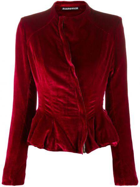 Красная длинная куртка Aganovich