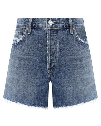 Джинсовые шорты - синие Agolde