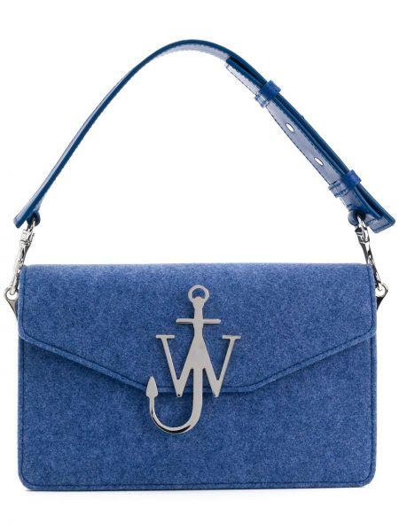 Klasyczny niebieski portfel skórzany Jw Anderson