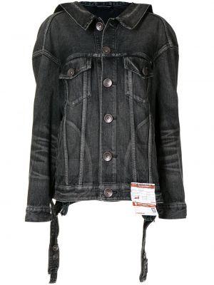 Черная джинсовая куртка длинная Maison Mihara Yasuhiro