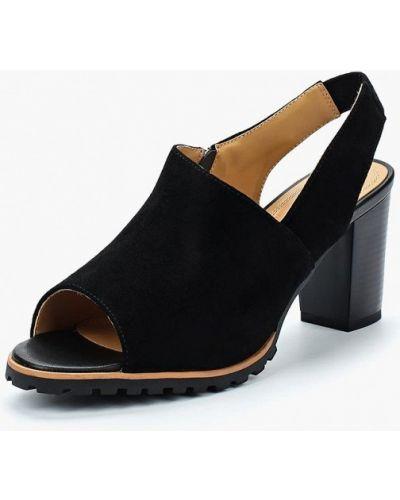 Черные босоножки на каблуке Zenden Collection