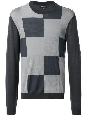 Bluza z długimi rękawami bawełniana Giorgio Armani