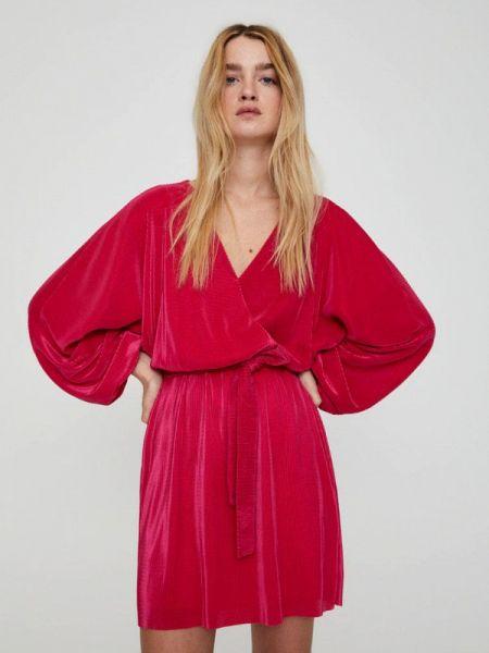 Платье розовое с запахом Pull&bear