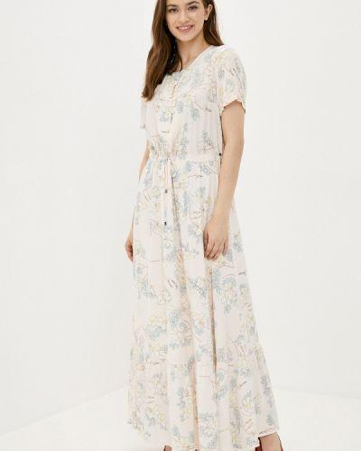 Прямое свободное бежевое платье Finn Flare