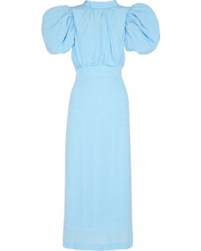 Niebieska sukienka z wiskozy Rotate Birger Christensen