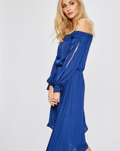 Платье миди в полоску с поясом Answear