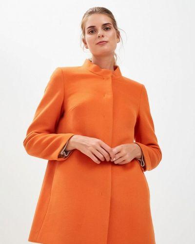 Оранжевое пальто осеннее Gamelia