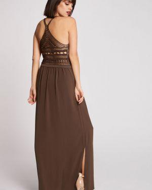 Codzienna sukienka z wiskozy z rękawami Morgan