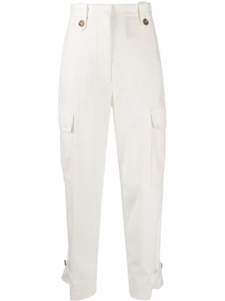 Шерстяные брюки карго на пуговицах Pt01