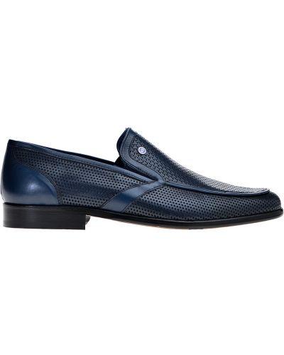 Кожаные туфли - синие Mario Bruni