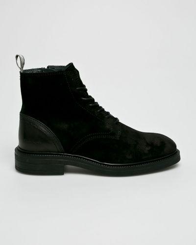 Кожаные ботинки на шнуровке высокие Gant
