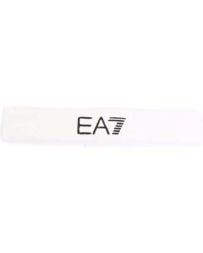 Белая спортивная повязка на голову Ea7 Emporio Armani