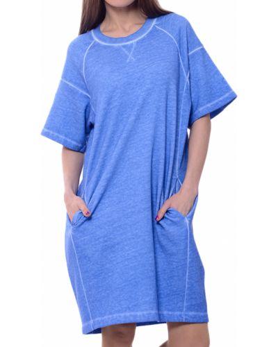Хлопковое платье - синее Paul Smith
